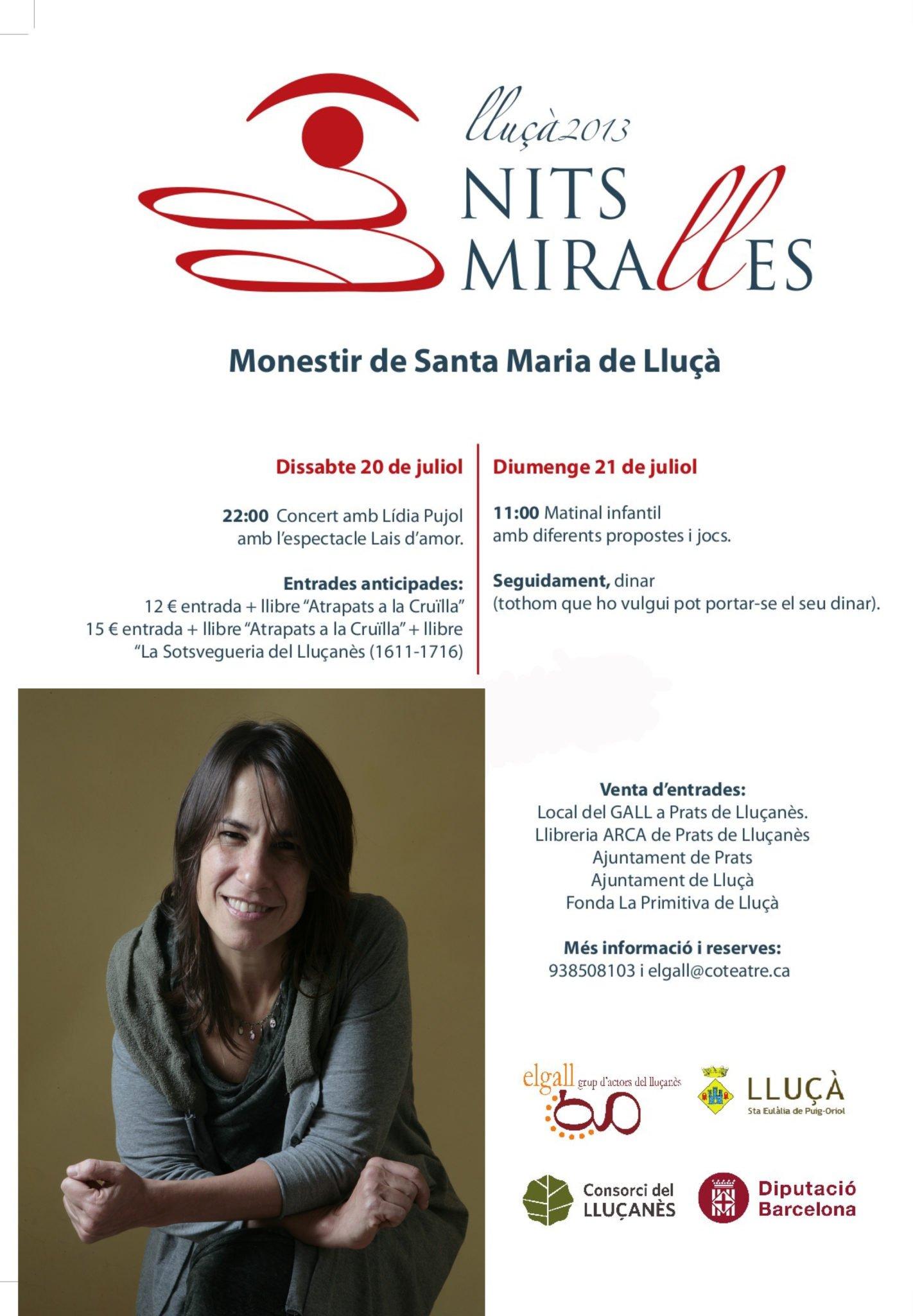 20 de juliol: Concert Lais d'amor (país petit?) al Monestir de Santa Maria de Lluçà