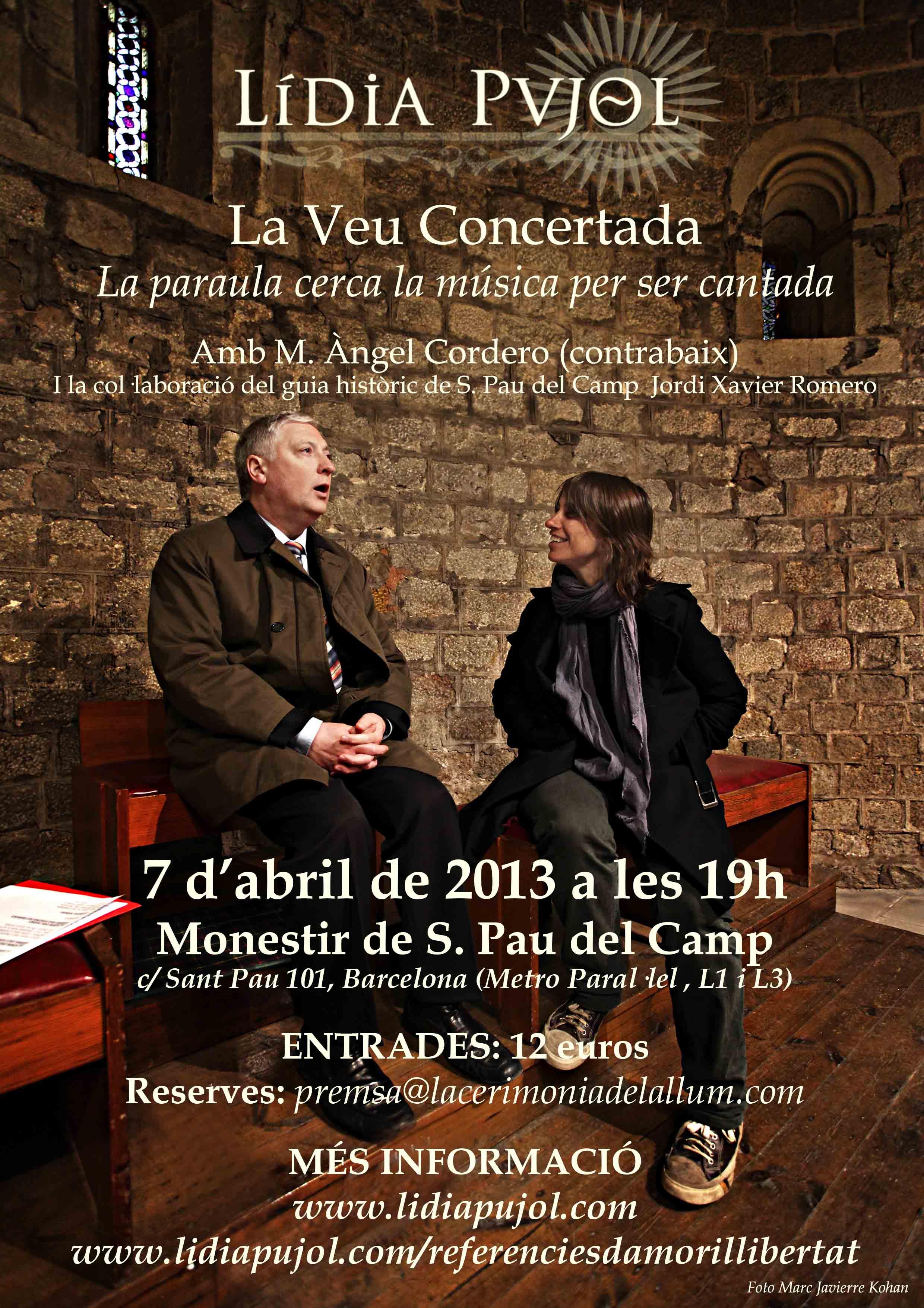Concert «La veu concertada: la paraula cerca la música per ser cantada» – 7 d'abril a les 19h