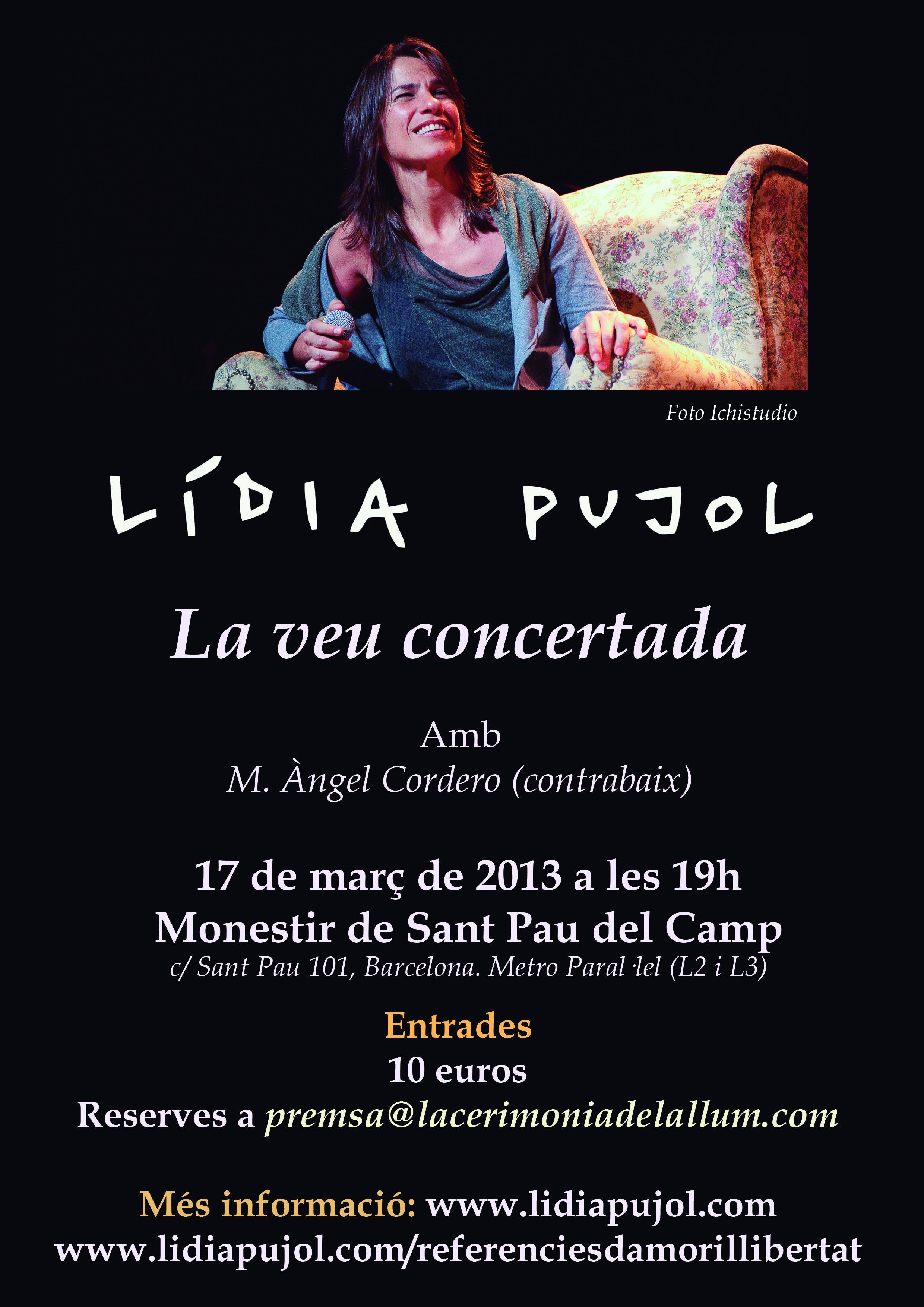 Concert «La Veu Concertada» – 17 de març a les 19h al Monestir de S. Pau del Camp