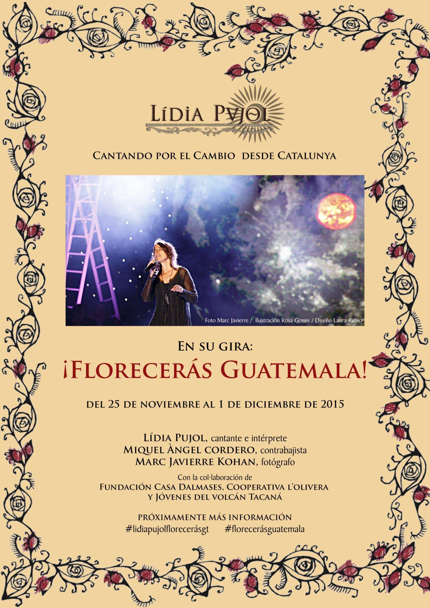 ¡Florecerás Guatemala! Gira de concerts solidaris després de l'últim concert Iter Luminis 2015 el 21 de novembre a la basílica de S. Maria del Pi.